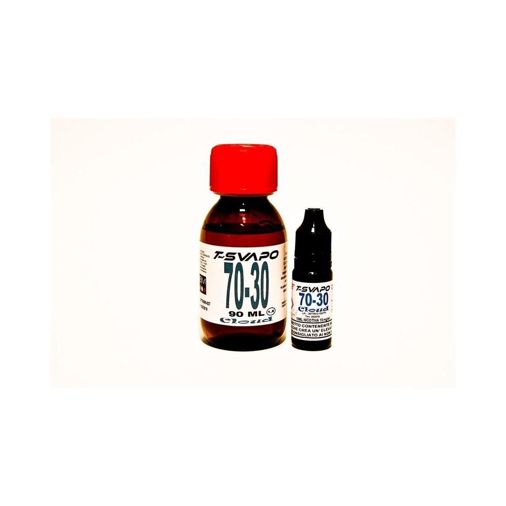 Kit Base Cloud 70/30 100ml  T-Svapo - 1,5 mg/ml nicotina