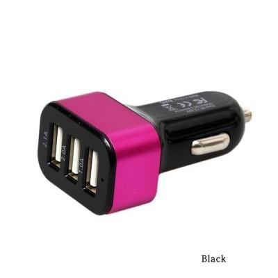 Caricabatterie USB da auto a tre prese