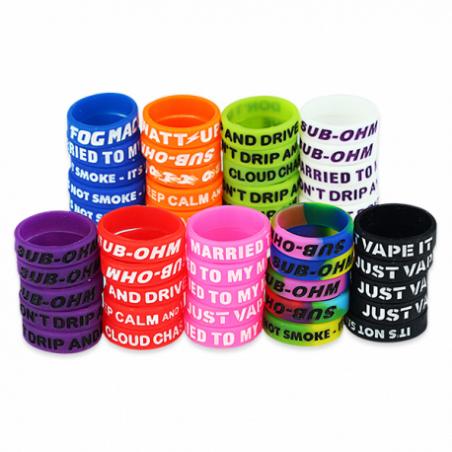 Anello decorativo Hard Vape Style 5pz. - Colore Rainbow