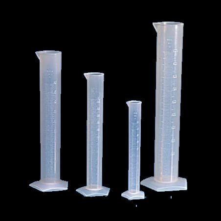 Cilindro graduato in polipropilene con becco - 1 pz-50 ml Base Tonda