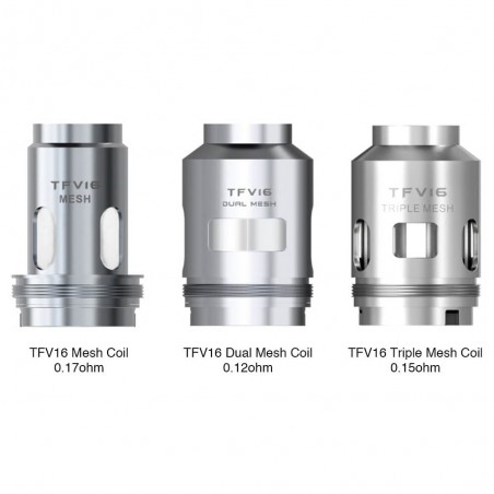SMOK - TFV16 Replacement Coil (x3)-Mesh 0.17ohm
