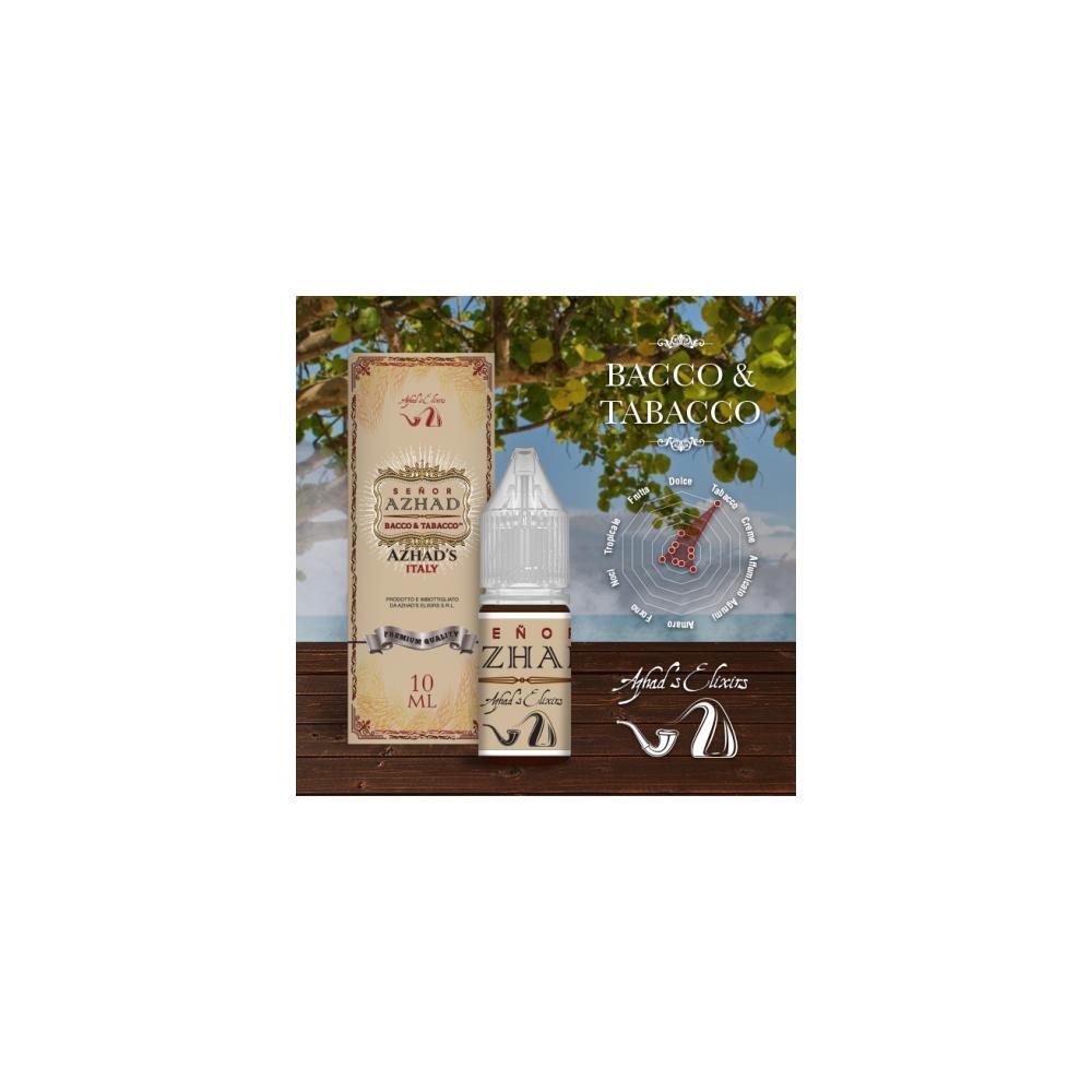 Azhad's Elixirs 10ml - Bacco & Tabacco - Senor Azhad-0mg/ml
