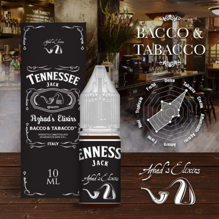 Azhad's Elixirs 10ml - Bacco & Tabacco - Tennessee Jack-0mg/ml