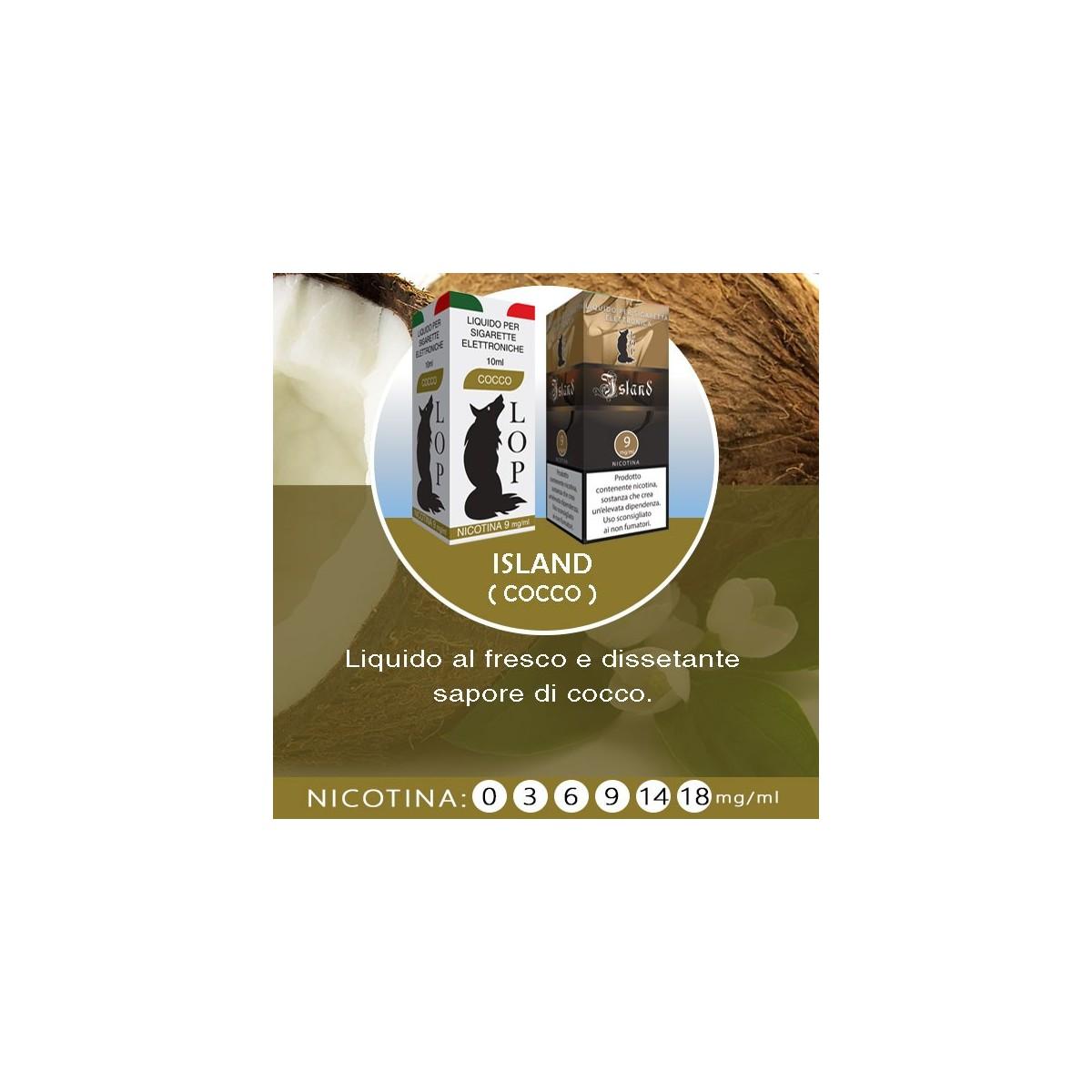 LOP - Island (cocco) 10ml-0mg/ml