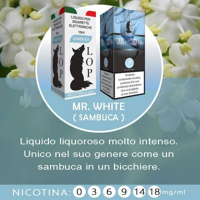 LOP - Mr. White (sambuca) 10ml-9mg/ml