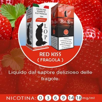LOP - Red Kiss (fragola) 10ml-0mg/ml