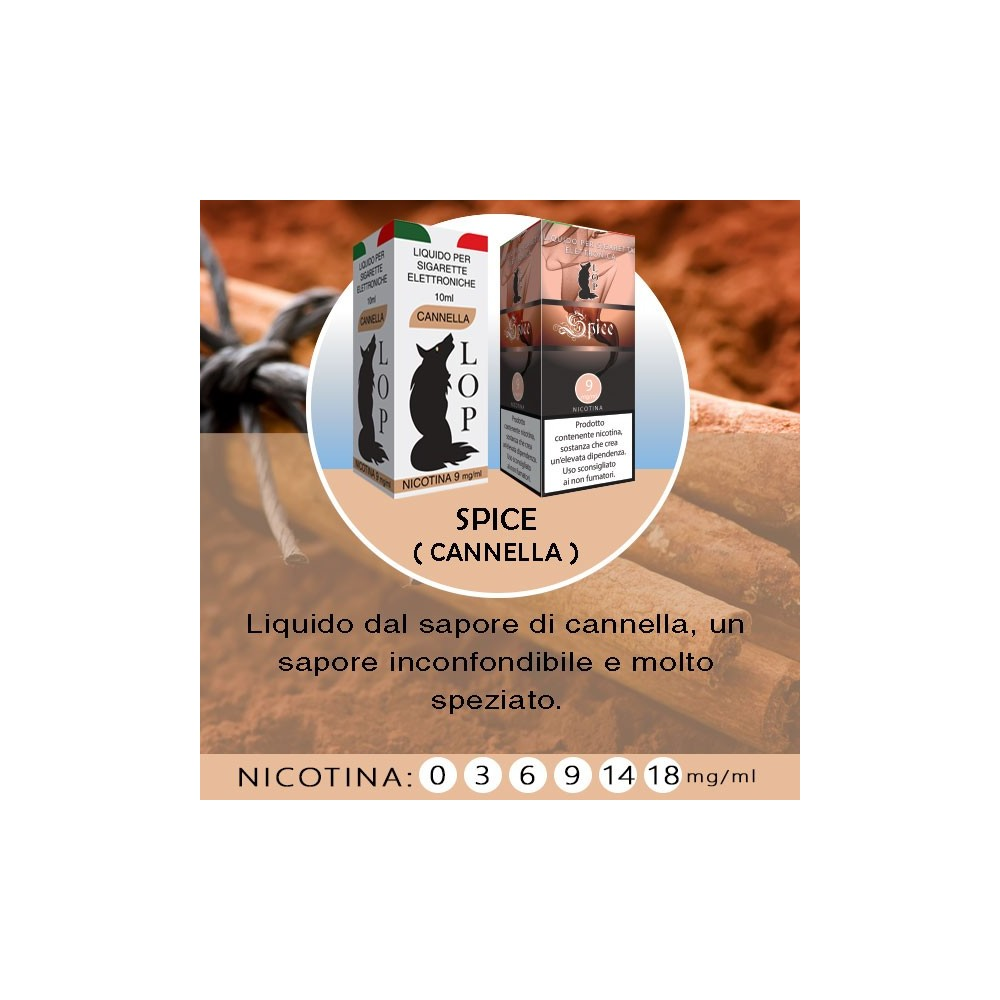 LOP - Spice (cannella) 10ml-0mg/ml