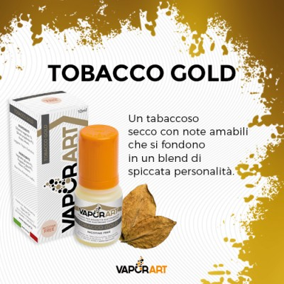 Vaporart 10ml - Tobacco Gold-0mg/ml