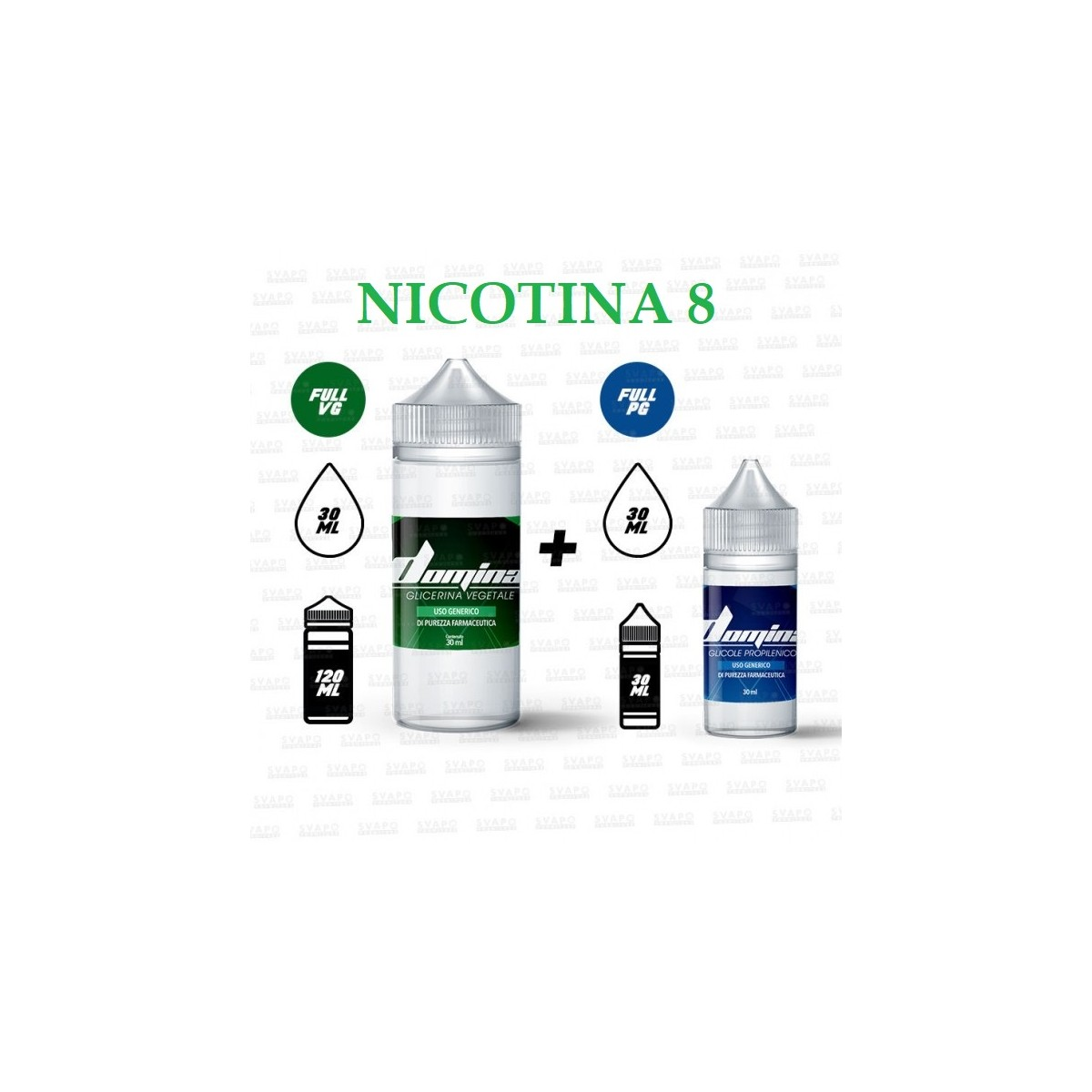 Bundle - Domina 100 Series 50/50 - 8mg/ml Nic